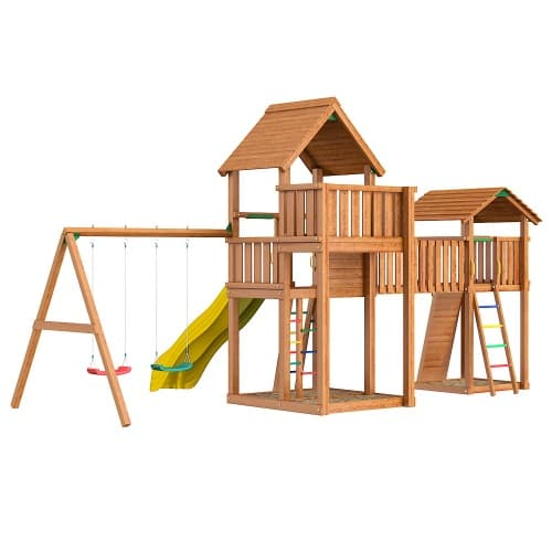 "Детская площадка ""Jungle Gym"" Jungle Palace + bridge Link+ cottage + Swing + Rock от интернет-магазина igrinadache.ru фото 3"